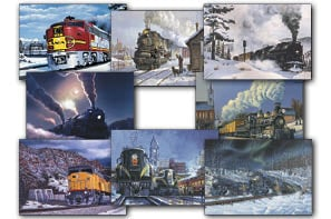 Christmas Card Value Assortment<BR/>3 each of 8 - 'Trains' Assortment - 28452 | Leanin' Tree