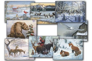 Christmas Card Value Assortment<BR/>3 each of 8 - 'Wintery Wildlife' Assortment - 28455 | Leanin' Tree