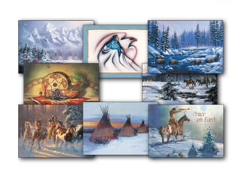 Christmas Card Value Assortment<BR/>3 each of 8 - 'Native American' Assortment - 28457 | Leanin' Tree