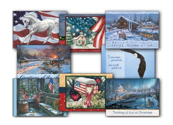 Christmas Card Value Assortment<BR/>3 each of 8 - 'American Heritage' Assortment - 28459 | Leanin' Tree