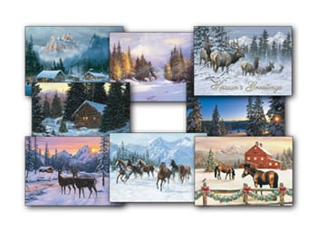 Christmas Card Value Assortment<BR/>3 each of 8 - 'Christmas in the Mountains' Assortment - 28461 | Leanin' Tree