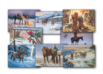 Christmas Card Value Assortment<BR/>3 each of 8 - 'Cowboy Christmas' Assortment - 28463 | Leanin' Tree