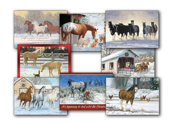 Christmas Card Value Assortment<BR/>3 each of 8 - 'Holiday Horse' Assortment - 28464 | Leanin' Tree