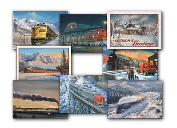 Christmas Card Value Assortment<BR/>3 each of 8 - 'Trains' Assortment - 28465 | Leanin' Tree