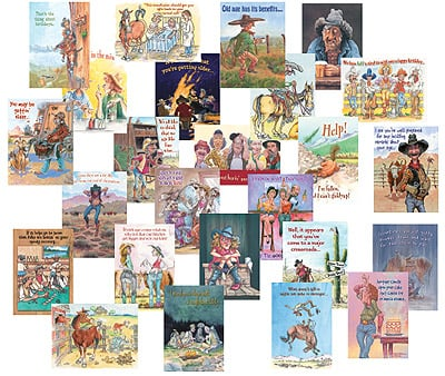Everyday Card Value Pack<BR/>1 each of 25 designs - Best of the West - Humorous - 28661 | Leanin' Tree