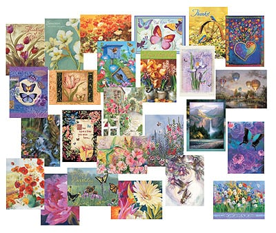 Everyday Card Value Pack<BR/>1 each of 25 designs - Simply Beautiful  - 28662 | Leanin' Tree
