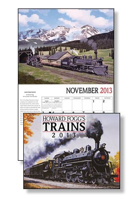 Wall Calendar - Howard Fogg's Trains 2013 Wall Calendar - 28805 | Leanin' Tree