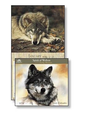Wall Calendar - Spirit of Wolves 2013 Wall Calendar - 28809 | Leanin' Tree