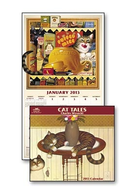 Wall Calendar - Charles Wysocki Cat Tales 2013 Calendar - 28819 | Leanin' Tree