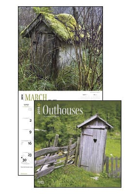 Wall Calendar - Outhouses 2014 Wall Calendar - 28827 | Leanin' Tree