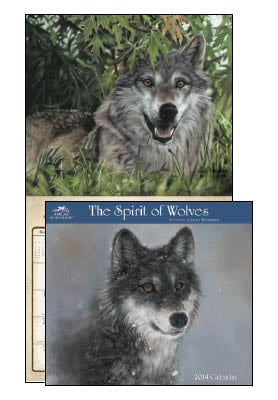 Wall Calendar - Spirit of Wolves 2014 Wall Calendar - 28832 | Leanin' Tree