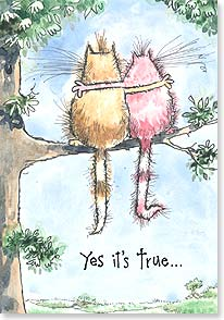 Friendship Card - Yes, it's true...I like hanging out with you! | Margaret Sherry | 29210 | Leanin' Tree