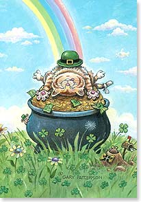 St. Patrick's Day Card - Hope you find your own pot of gold today! | Gary Patterson | 29288 | Leanin' Tree