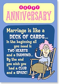 Anniversary Card - You're well suited and a perfect pair! | Aunty Acid™ | 29329 | Leanin' Tree