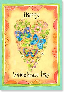 Valentine's Day Card - Hope your day makes your heart happy! | Sue Zipkin | 29410 | Leanin' Tree