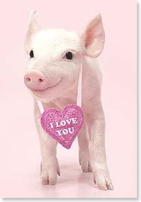 Valentine's Day Card - And I want to hog you all to myself. | Wild-Side Brands Ltd | 29415 | Leanin' Tree