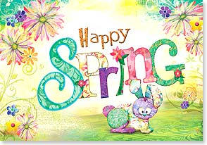 Happy Spring Card - The delights of springtime... | Connie Haley | 29432 | Leanin' Tree