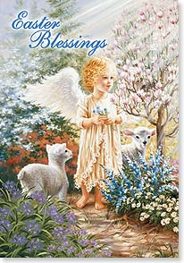 Easter Card - May the windows of heaven pour out an abundance of joy. | Dona Gelsinger | 29436 | Leanin' Tree