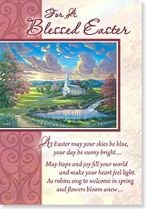 Easter Card - May He who gave us Eastertime bless those you love and you. | Douglas C. Hart | 29437 | Leanin' Tree
