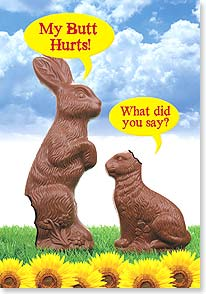 Easter Card - I said 'Have a Happy Easter!' | Dare to Laugh™ | 29448 | Leanin' Tree