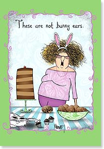 Easter Card - They're chocolate antennae. | Leslie Moak Murray | 29450 | Leanin' Tree