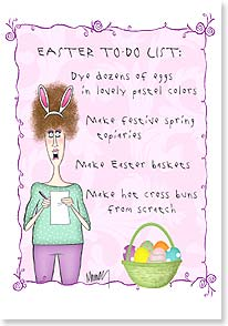 Easter Card - Call therapist. | Leslie Moak Murray | 29451 | Leanin' Tree