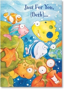Get Well Card {Name} - Sending you get well fishes! | Steve Vanderbosch | 2_2000188-P | Leanin' Tree