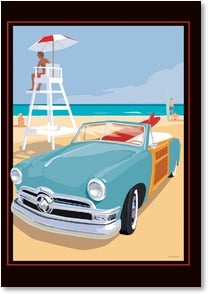 Blank Card - Cruisin' the Beach | David Grandin | 2_2000234-P | Leanin' Tree
