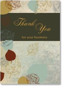Thank You for Your Business - Leaves of Thanks | LT Studio | 2_2000286-P | Leanin' Tree
