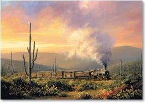 Blank Card - Southwest Steam Express | Charles H. Pabst | 2_2000506-P | Leanin' Tree