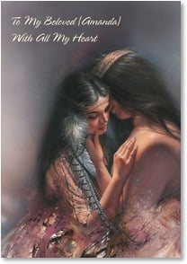 Love & Romance Card - I Want To Be With You | Lee Bogle | 2_2000603-P | Leanin' Tree