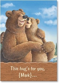 Love & Romance Card - A Hug for My Honey  | Jeffrey Severn | 2_2000685-P | Leanin' Tree