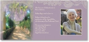 Retirement Announcement - Wisteria Retirement | John and Debora Scanlan | 2_2000810-P | Leanin' Tree