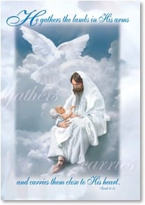 Sympathy Card - Jesus in clouds holding baby | Danny Hahlbohm | 2_2001065-P | Leanin' Tree