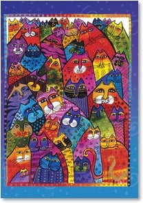 Anytime Wish for You Card - Today, all the cats are purring for you! | Laurel Burch® | 2_2001168-P | Leanin' Tree