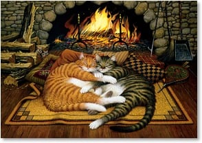 Anniversary Card - You make me feel warm & fuzzy! | Charles Wysocki | 2_2001433-P | Leanin' Tree