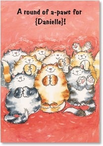 Graduation Card - A Round of a-Paws for the Grad | Margaret Sherry | 2_2001574-P | Leanin' Tree