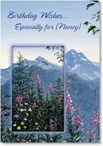 Birthday Card - The Mountain's Peace for You | Jeff Tift | 2_2001623-P | Leanin' Tree