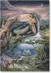 Blank Card - Mer Angel | Josephine Wall | 2_2001713-P | Leanin' Tree
