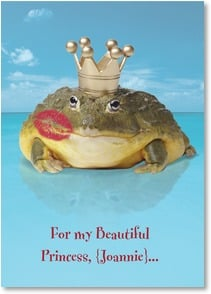 Love & Romance Card - I just wanted to say, 'I'll love you 'til the day I croak!' | Fotosearch | 2_2001843-P | Leanin' Tree