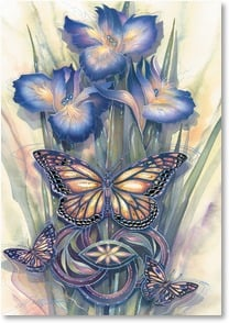 Motivation & Inspiration Card - Here's to New Beginnings | Jody Bergsma | 2_2001857-P | Leanin' Tree