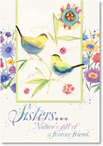 Friendship Card - Sister - you're God's precious gift; James 1:17  | Susan Winget | 2_2001995-P | Leanin' Tree