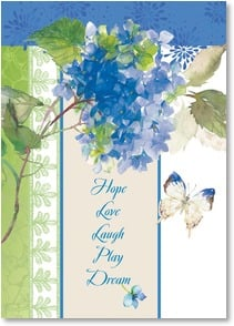 Blank Card with Quote / Saying - Hope - Love - Laugh - Play - Dream | Gail Flores | 2_2002015-P | Leanin' Tree