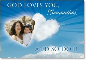 Mother's Day Card - Joy on Mother's Day;1 Samuel 2:1  | Masterfile Corporation | 2_2002083-P | Leanin' Tree