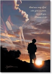 Military Family Support Card - Praying for the safe return of your son | Danny Hahlbohm | 2_2002452-P | Leanin' Tree