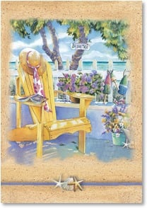 Blank Card - Lounging by the sea | Kathleen Denis | 2_2002542-P | Leanin' Tree