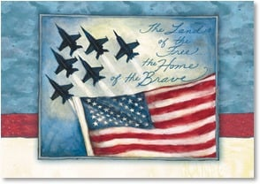 Patriotic & American Pride Card - The Land of the Free...  | Susan Winget | 2_2002568-P | Leanin' Tree