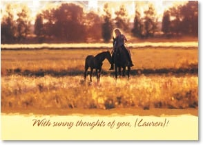 Thinking of You Card - With sunny thoughts of you!; Psalm 89:15 - 2_2003228-P | Leanin' Tree