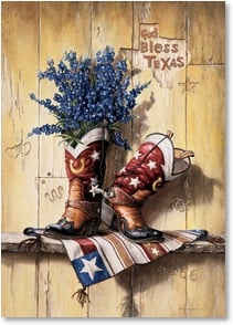 Blank Card with Quote / Saying - God Bless Texas - 2_2003237-P | Leanin' Tree