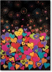 Blank Card - Falling Hearts | Laurel Burch® | 2_2003683-P | Leanin' Tree